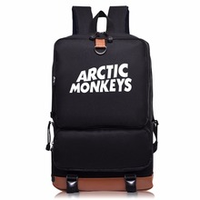 2017 New listing ARCTIC MONKEYS  Rock Music Band Leisure Backpacks for Teenagers Canvas Schoolbags