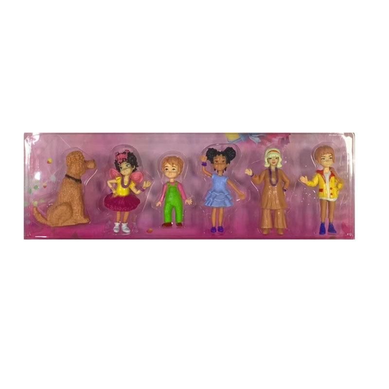 6pcs/lot Fancy Nancy PVC Toys Fancynancy Doll Action Figure For Children's Birthday Gift 8-9cm