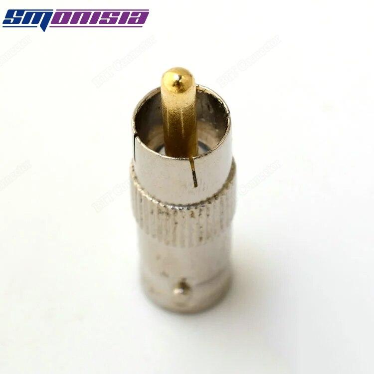 10pcs-1000pcs BNC Female Q9 Socket To RCA Male Plug Connector