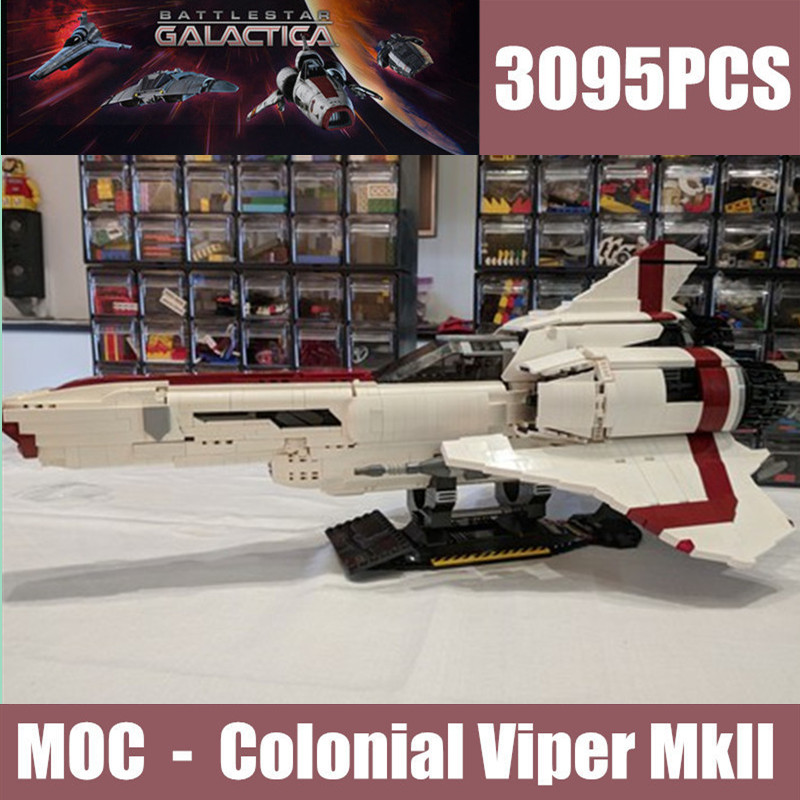 New The Battlestar Galactica MOC Colonial Viper MKII fit MOC 9424 technic star wars building blocks