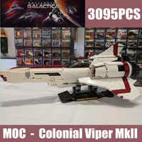New The Battlestar Galactica MOC Colonial Viper MKII fit MOC-9424 technic star wars building blocks bricks kid toy