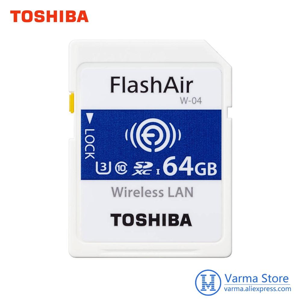 Original Toshiba WIFI SD Card High-speed Memory Card SLR Camera Supports 4K Wireless WIFI Card 64GB