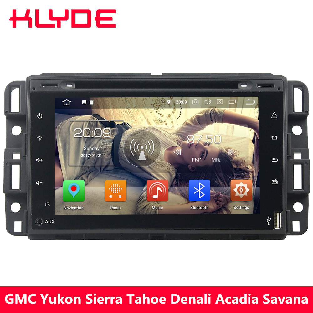 KLYDE 4G Octa Core 4GB RAM Android 8.0 Car DVD Player For Chevrolet Avalanche Suburban Express Traverse Silverado 1500 2500 3500