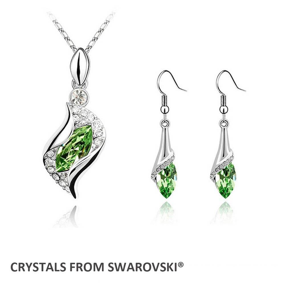 f61ec2f67c37 2015 estilo caliente venta joyería de la boda establece pendientes collar  set cristales de Swarovski Navidad regalo