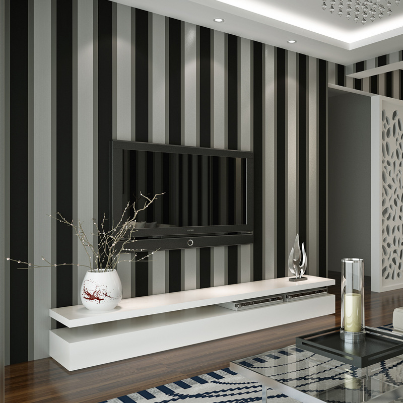 beibehang wide stripes wallpaper for walls 3 d papel de parede mural wallpaper-3d wall papers home decor papel contact flooring цена 2017
