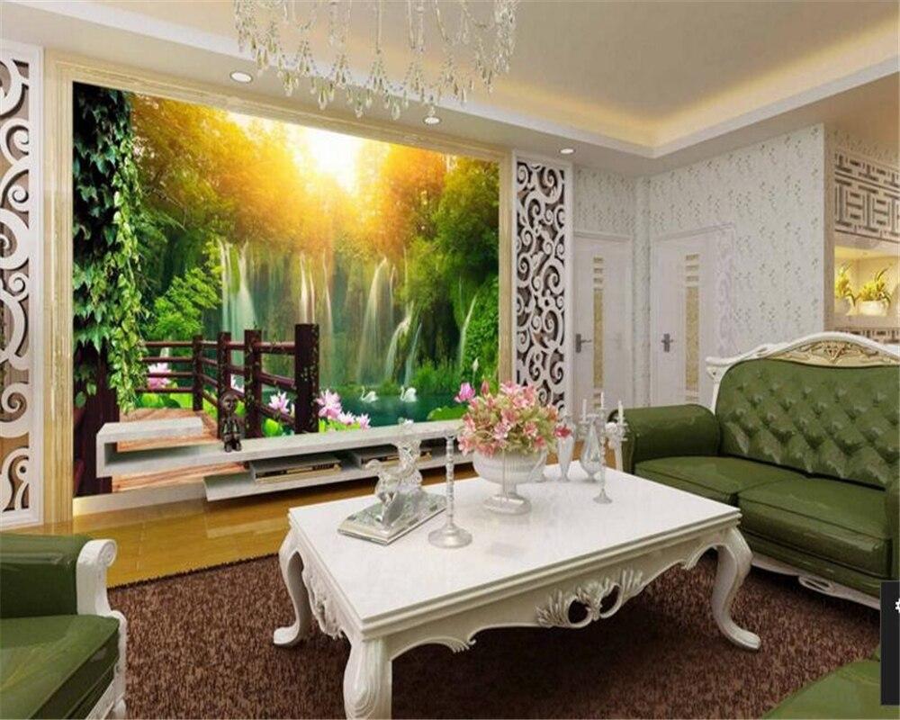 Beibehang Wallpaper Landscape Wall Paper Tv Wall Background Papel De