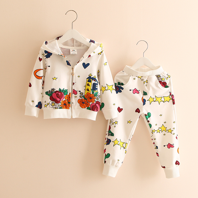 Children Clothing 2019 Spring Girls Clothing Sets Outfit Kids Clothes Girls Tracksuit for Girls Swear Suit Tz-2790