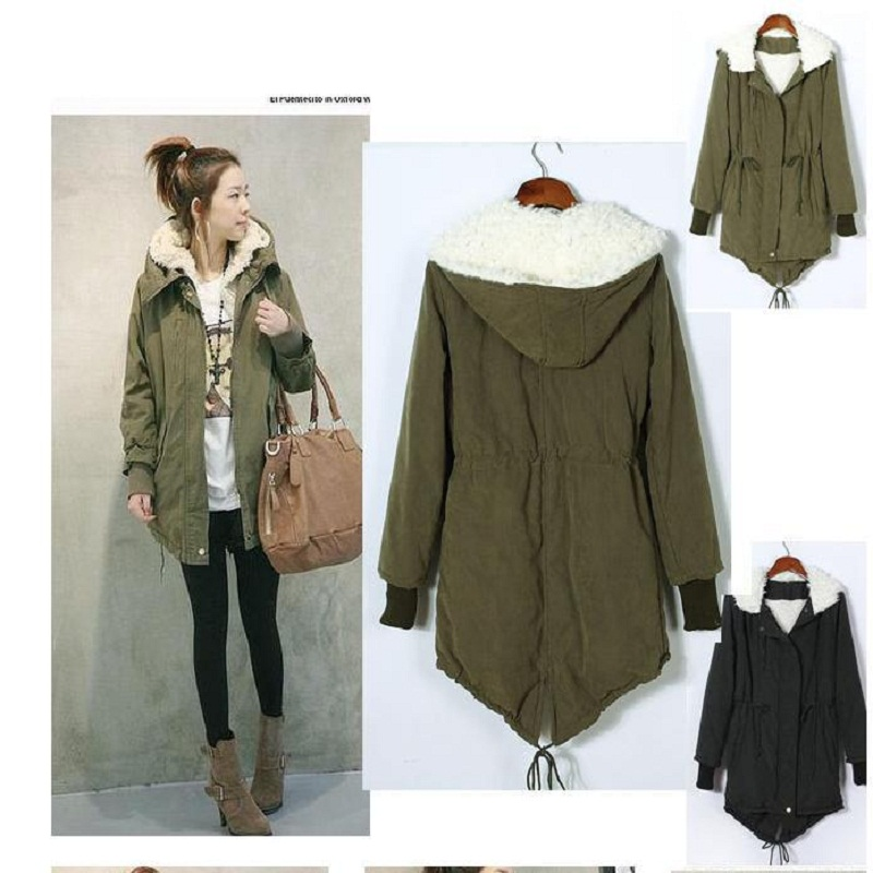 Aliexpress.com : Buy Cotton Warm Coat Army Green Outwear Hooded ...