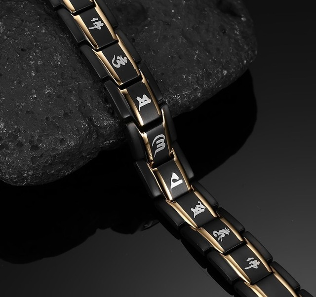 Modyle New Men's Health Bracelets & Bangles Magnetic H Power Stainless Steel Charm Jewelry For Man