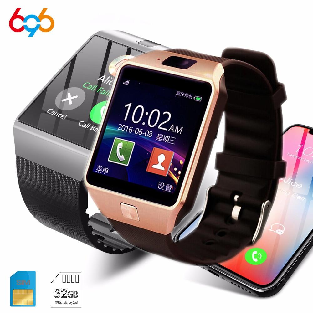 49cba38988a1 696 DZ09 inteligente Fintness bluetooth 2G SIM DZ09 Para android  anti-perdido recordatorio de mensaje Smartwatch Para Android iOS PK GT08