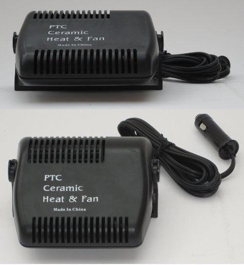 2 in 1 Car Heater Heating Cool Fan 12V 150W Windscreen Demister Defroster Black