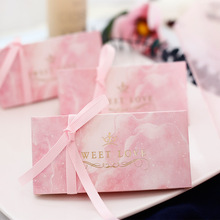 RMTPT 50pcs/ Pink sweet love candy box Triangular Pyramid wedding favor gift for party favors babyshower supplies