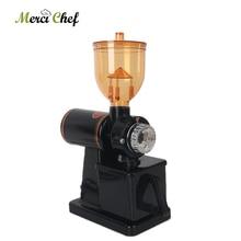 Portable Commercial Electric Coffee Grinder Bean Milling Machine 8-Speeds Mills Maker 110V/220V 15kg/h