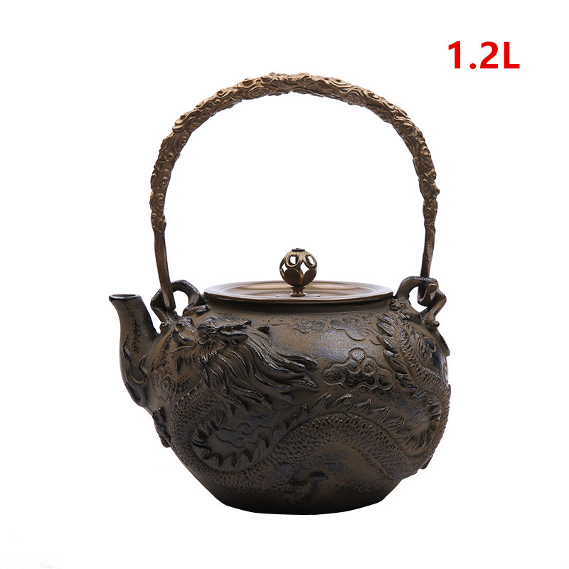 Cast Iron Tetsubin Dragon Kettle
