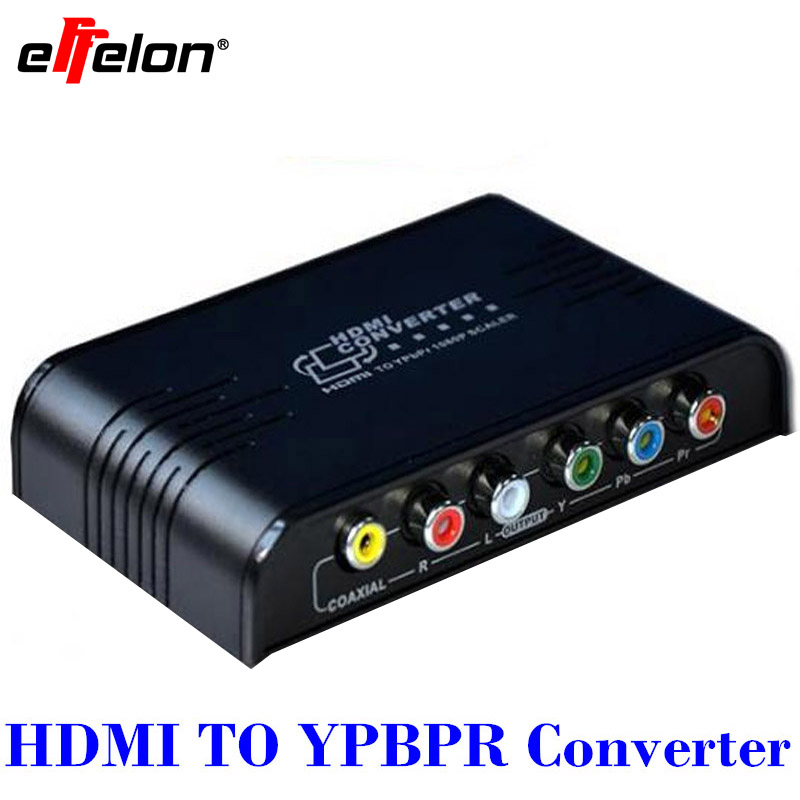 Effelon HDMI to 1080P Component Video (YPbPr) Scaler Converter Supporting Coaxial Audio Output  ypbpr to hdmi converter 5rca component audio video scaler adapter