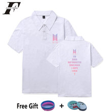 8cc933ab41fd LUCKYFRIDAYF 2018 BTS LOVE YOURSELF Polo shirts Men Women shirts Summer hit  hop Casual Short