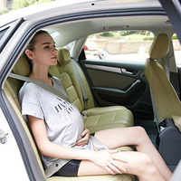 Car Pregnant Safety Protection Seat Belts Women Care Belly Belt Drive Maternity Safety Seatbelt With Leather