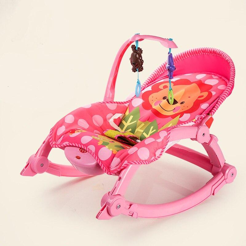 Bébé trône infantile à bambin musique berceau Rocker bébé videur chaise pli bébé berceau