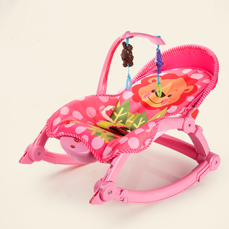Baby Throne Infant To Toddler Music Cradle Rocker Baby Bouncer Chair Fold Baby Cradle стульчик шезлонг baby bouncer bebabybus uc42 pink