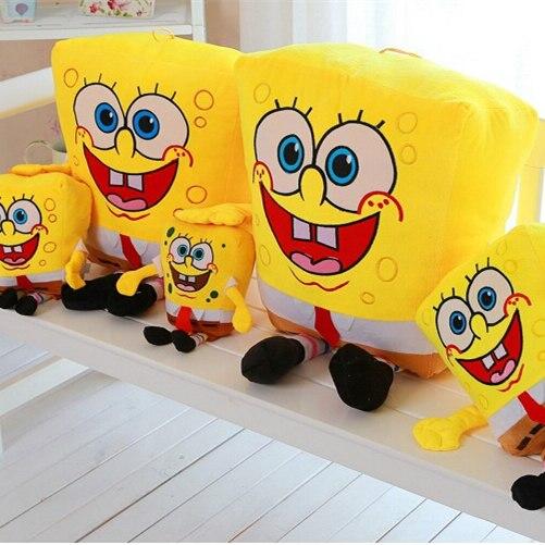 SAINTGI Wholesale SpongeBob patrick star cute doll pillow creative birthday gift baby toys 30cm-50cm Stand animal stuffed
