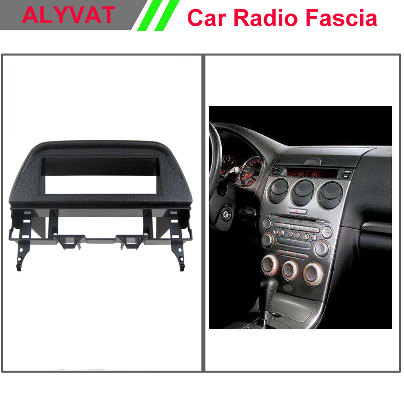 Top Quality Professional Car DVD Radio Fascia Frame for <font><b>MAZDA</b></font> <font><b>6</b></font> 2006 1 <font><b>DIN</b></font> Stereo Interface Dash CD Trim Installation Kit image