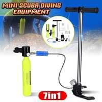 Scuba Diving Cylinder Oxygen Tank Snorkel Diving Equipment High pressure Pump Aluminum Case Snorkeling Underwater Breathing