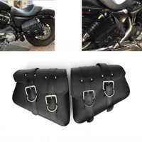 Wasserdichte Motorrad tasche Für Sportster XL 883 1200 Motorrad Sattel Taschen Pu Leder Motorrad Seite Werkzeug Tasche aus tür Gepäck