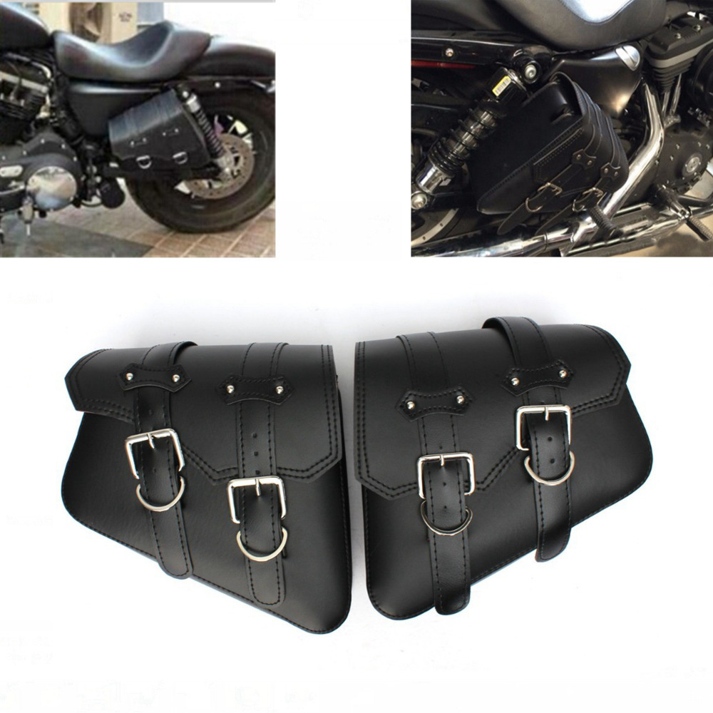 Waterproof Motorcycle bag For Sportster XL 883 <font><b>1200</b></font> Motorcycle Saddle Bags Pu Leather Motorbike Side Tool Bag out door Luggage image