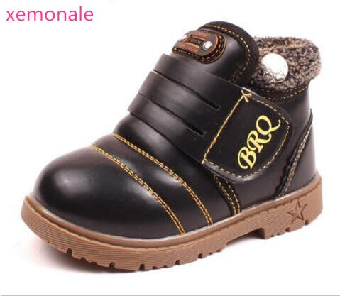 New Style Kids Boots Boys Girls Boots Children Autumn Winter Shoes Warm Fur Snow Martin Boots Fashion Thicken Cow Muscle Boots