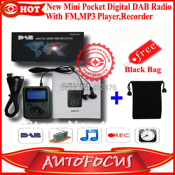 new mini pocket dab dab digital radio with fm mp3 player. Black Bedroom Furniture Sets. Home Design Ideas