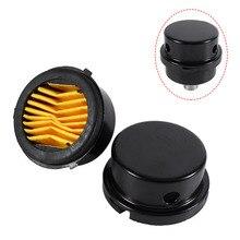 Black Metal Air Compressor Intake Filter Muffler Silencer Thread 3/8