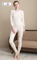 Extra Thick Cotton outer side With Silk Cutting Piles Terry Inner Neckline Long Johns Set Size M L XL XXL