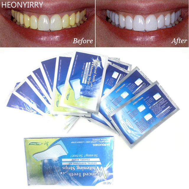 28pcs 14pairs 3d Teeth Whitening Strips Clareamento Dental Tooth