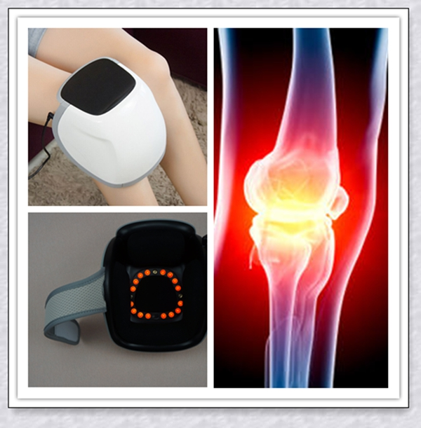 Home Knee Pain Relief Device Instrument With The Cold Laser / Infrared Light Therapy And Massage knee pain relief laser physical therapy machine pain management medical treatment instrument pussy massage sticks