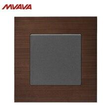 MVAVA 1 Gang 1/2 Way Light Control Switch EU/UK Standard Wall Decorative Push Button Luxury Alumimum Brushed Panel Free Shipping