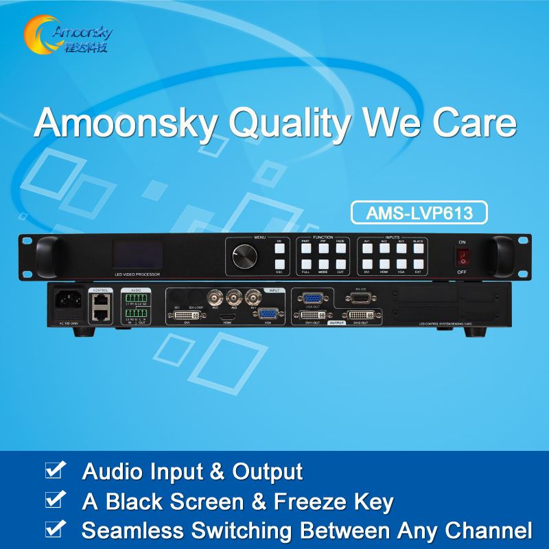 AMS-LVP613 hot sale video wall processor vga input video controller support audio in and out