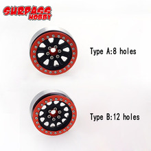 4Pcs 2.2inch Metal Wheel Rim Beadlock For 1/10 RC Crawler Car Traxxas TRX4 Defender Bronco RC4WD D90 Axial Scx10 90046 CCO1 TF2 dc 2 2inch high quality 6061 alloy cnc wheel rim for 1 10 rc crawler car traxxas trx4 ford bronco rc4wd d90 axial scx10 90046