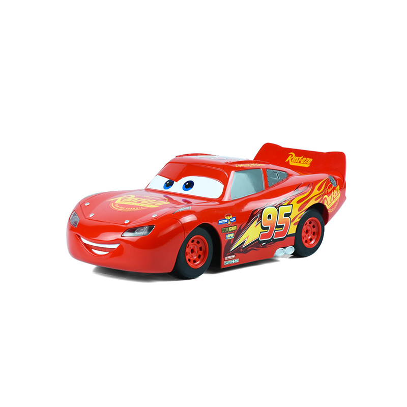 Disney Pixar Kids Xmas Gifts Lightning Mcqueen One Electric Slot Car Cars With 6pcs Diy Tracks For Children Licensed In Casts Toy Vehicles From
