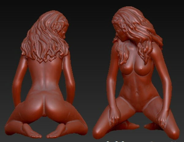 New 3D Model For Cnc 3D Carved Figure Sculpture Machine In STL File Format Naked Woman-6