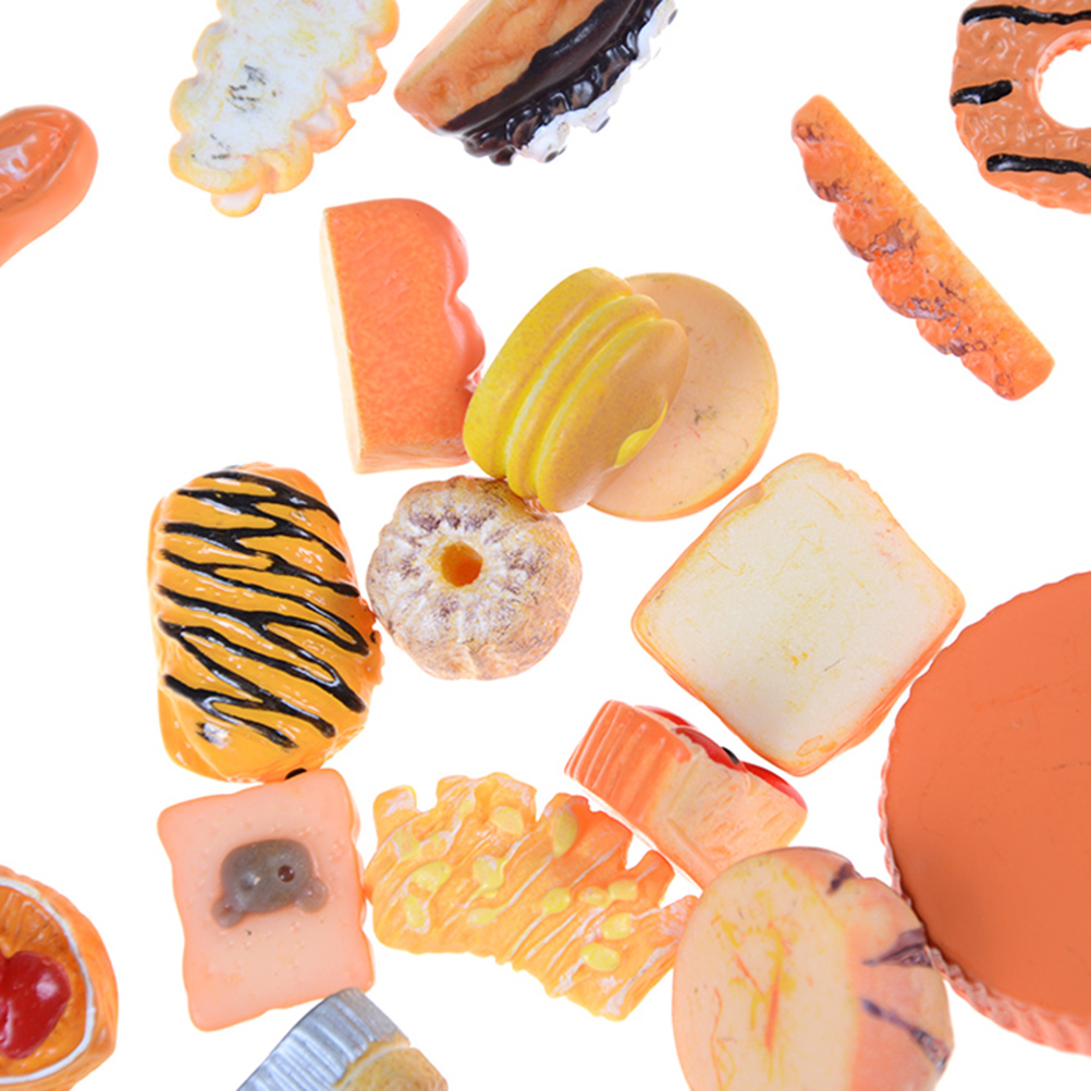 10pcs Home Craft Mini Food Ornament Miniature Dollhouse Decor Doll House Accessories Scale Miniatures
