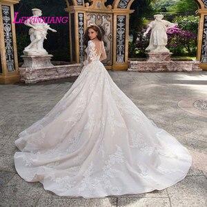 Image 2 - LEIYINXIANG Wedding Dress Vestido De Noiva Sereia Robe Sexy Ball Gown Backless Luxury Bride Dress Elegant Appliques Sweetheart