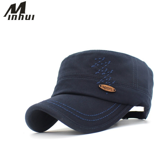 Minhui Cotton Women s Military Cap Fitted Hats Bone Casual Caps for Men  Women a4b4bcb328c