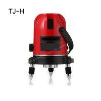 1PC 새로운 레이저 레벨 레벨러 수직 수평 라인 셀프 레벨링 크로스 레이저 레벨 TJ-H 5MW 레드 2 라인 레이저 핫 세일