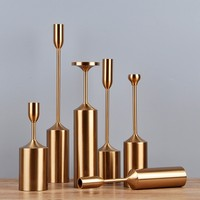 6pcs/ set retro table ornaments candle stand home metal crafts decoration wedding table decoration Iron metal Candlestick