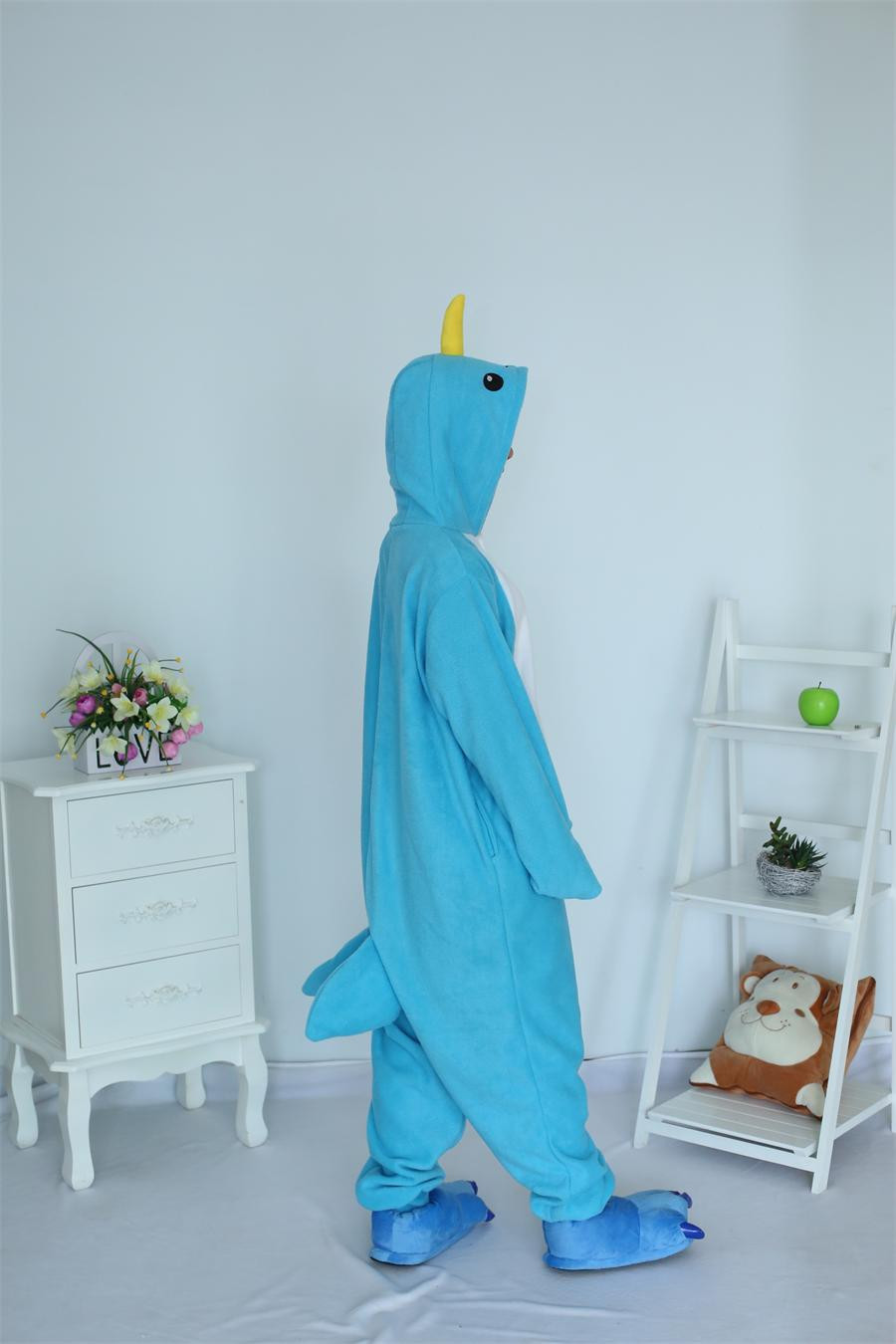 Kigurumi Halloween Milad Yetkin Narwhal Pijama Heyvan Cosplay Kostyum - Karnaval kostyumlar - Fotoqrafiya 3