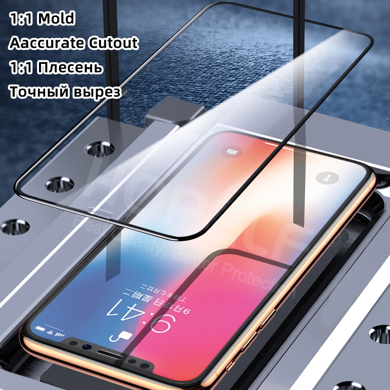 Image 3 - 6D Tempered Glass on the for iPhone 7 Plus 8 6 6s Protective Glass on for iPhone 11 Pro MAX XS X XR 7 Plus 6 8 Screen Protector-in Phone Screen Protectors from Cellphones & Telecommunications on