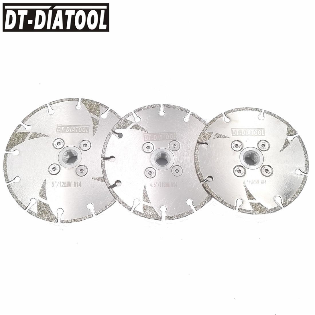 Lâmina de Serra 5 para Mármore Dt-diatool Galvanizado Reforçado Diamante Corte Disco M14 Rosca Diâmetro 4 4.5 Moagem Roda 1pc