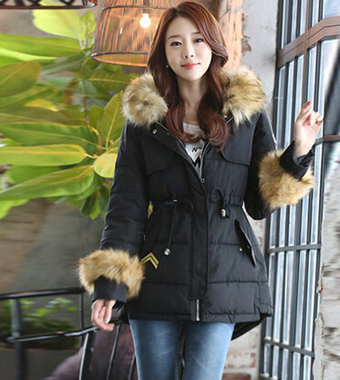 Women Winter Warm Clothing Army Green Coat With Fur Hood Long Military Parka Coat Cotton-Padded Jacket Outerwear H5342 army green winter thick military coat army green female hooded jacket parkas outerwear fur collar women coat