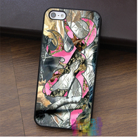 Realtree Deer Camo Pink Fashion Cell Phone Case For Iphone 4 4s 5 5s 5c SE
