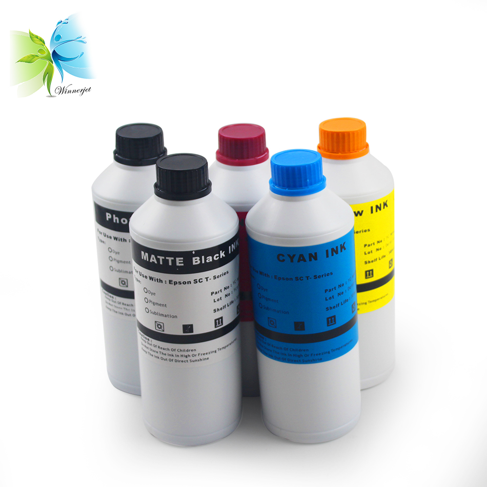Winnerjet 5 bottles sublimation ink for Epson SureColor T3200 T5200 T7200 SC T3200 SC T5200 SC T7200 heat transfer inks in Ink Refill Kits from Computer Office